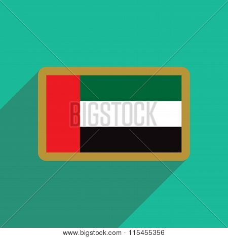 flat icon with long shadow Flag Arab Emirates