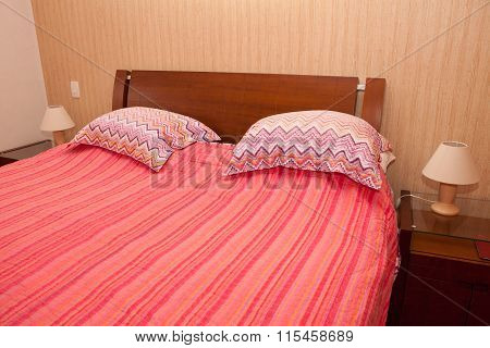 Bedroom With Bed Made