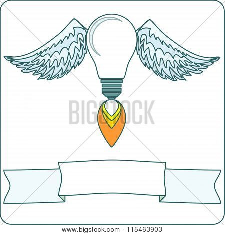 lightbulb with wings