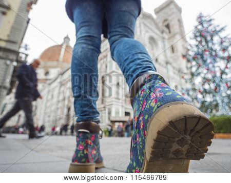 Florence Cathedral boots woman Christmas