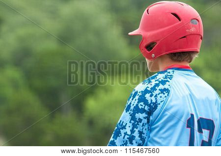 Teen Baseball Player On Deck