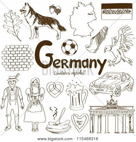 Collection Of Germany Icons.