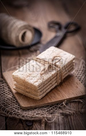 Dry Crisp Breads. Dark Light.