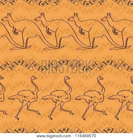 Australian Seamless Pattern.