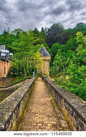 Old stone bridge in Luxembourg, Benelux, HDR