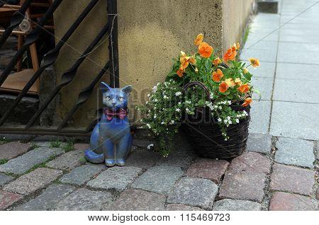 Ceramic cat.Tallinn, Estonia