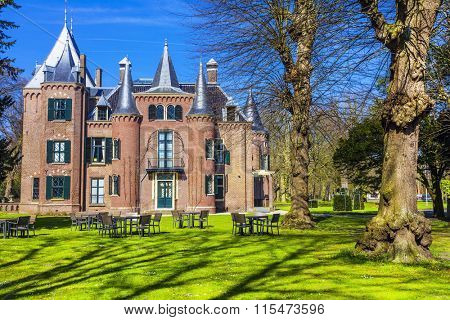 Keukenhof castles in Lisse, Holland