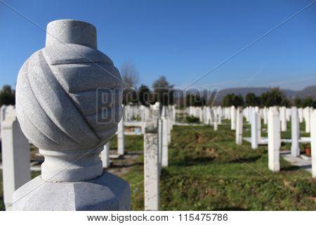 Muslim Islamic cemetery