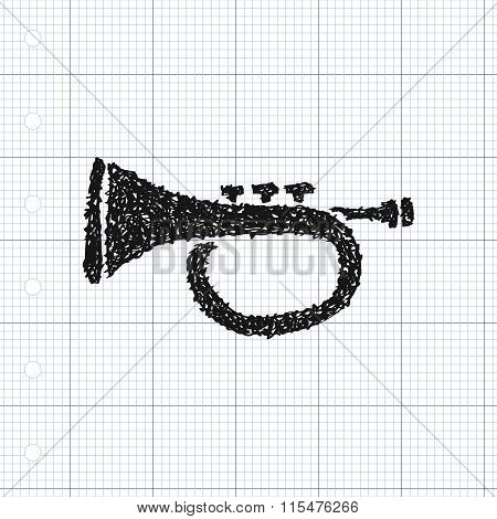 Simple Doodle Of A Trumpet