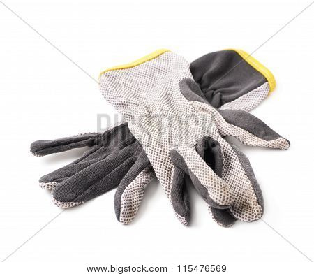 Pair of dirty working gloves