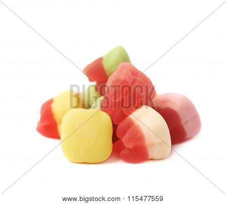 Tooth shaped candy isolated