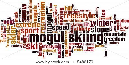 Mogul Skiing Word Cloud