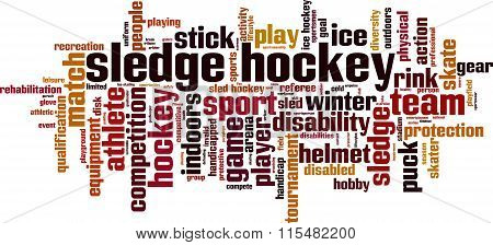 Sledge Hockey Word Cloud