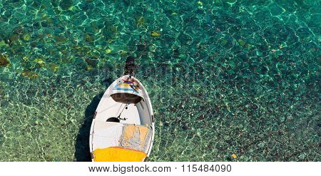 Motorboat On Transparent Sea
