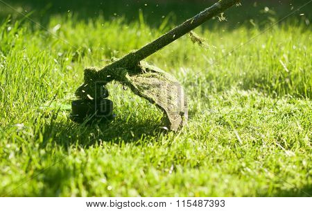 Mowing a lawn with a lawn mower