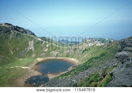 Baengnokdam Lake at the Top of Mount Hallasan