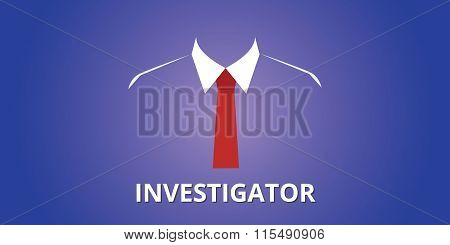 investigator investigation person illustration
