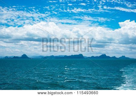 Seascape And Blue Sky At Ko Samui