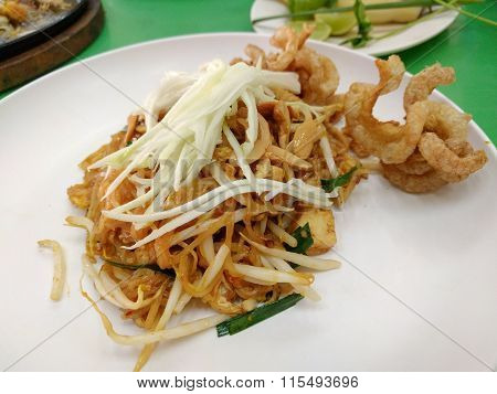 Thai Fried Noodles Called Pad Thai