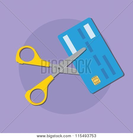 cut credit card use scissors for better finance condition