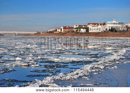 Starting Freeze On The Irtysh River