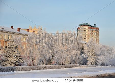 Siberian Town Omsk, Siberian Region, Russia