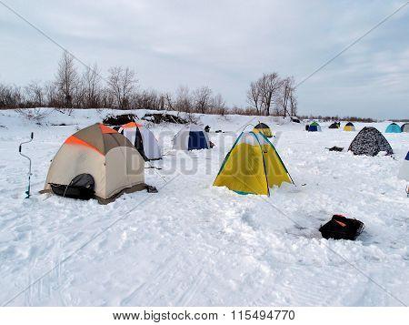 Winter Fishing, Omsk Region, Siberia, Russia
