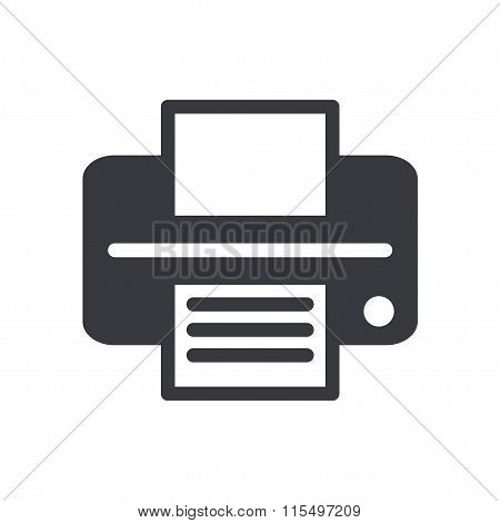 Linear Icon Print On White Background. Vector Illustration