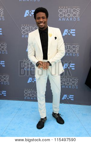 LOS ANGELES - JAN 17:  Shameik Moore at the 21st Annual Critics Choice Awards at the Barker Hanger on January 17, 2016 in Santa Monica, CA