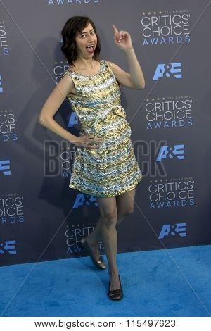LOS ANGELES - JAN 17:  Kristen Schaal at the 21st Annual Critics Choice Awards at the Barker Hanger on January 17, 2016 in Santa Monica, CA