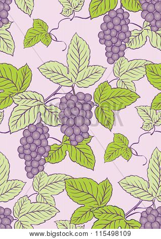 Vector Vintage Seamless Repetaing Fruit Pattern