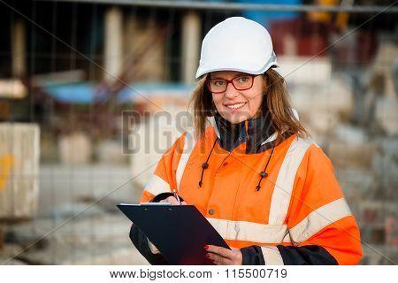 Senior woman engineer at work