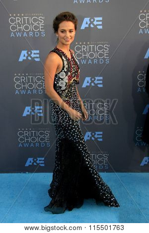 LOS ANGELES - JAN 17:  Alicia Vikander at the 21st Annual Critics Choice Awards at the Barker Hanger on January 17, 2016 in Santa Monica, CA