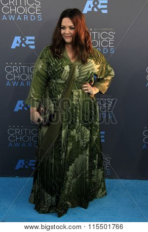 LOS ANGELES - JAN 17:  Melissa McCarthy at the 21st Annual Critics Choice Awards at the Barker Hanger on January 17, 2016 in Santa Monica, CA