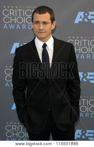 LOS ANGELES - JAN 17:  Hugh Dancy at the 21st Annual Critics Choice Awards at the Barker Hanger on January 17, 2016 in Santa Monica, CA
