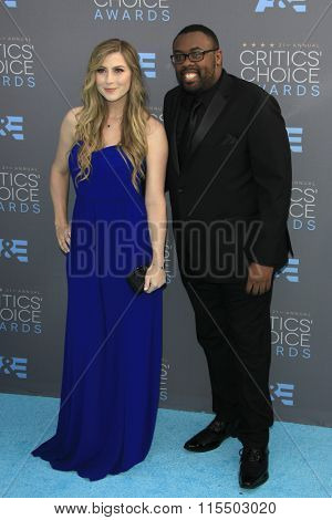LOS ANGELES - JAN 17:  Katie Wilson, Andre Meadows at the 21st Annual Critics Choice Awards at the Barker Hanger on January 17, 2016 in Santa Monica, CA