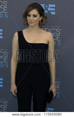 LOS ANGELES - JAN 17:  Rachel Bloom at the 21st Annual Critics Choice Awards at the Barker Hanger on January 17, 2016 in Santa Monica, CA