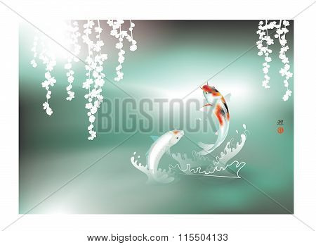 Happy Koi couple