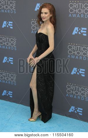 LOS ANGELES - JAN 17:  Sarah Hay at the 21st Annual Critics Choice Awards at the Barker Hanger on January 17, 2016 in Santa Monica, CA