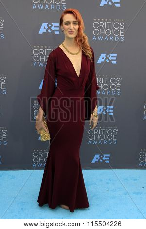 LOS ANGELES - JAN 17:  Breeda Wool at the 21st Annual Critics Choice Awards at the Barker Hanger on January 17, 2016 in Santa Monica, CA