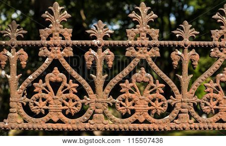 lattice fence with spikes