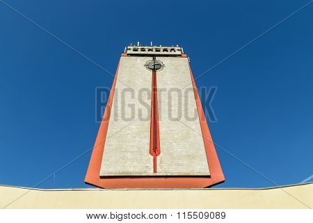 Fragment of a modern building train station in Lipetsk