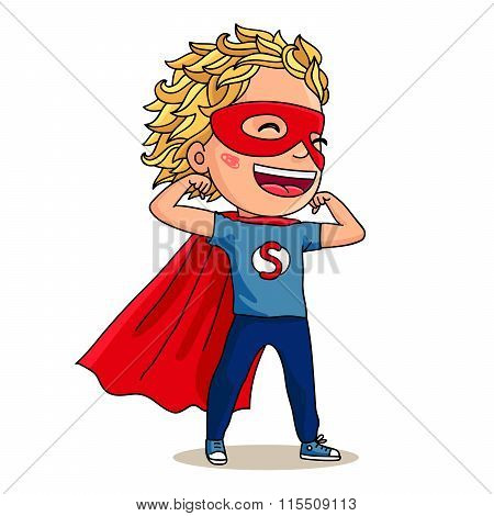 Super Kid. Super Boy. Vector Illustration.