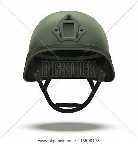 Military tactical helmet green color