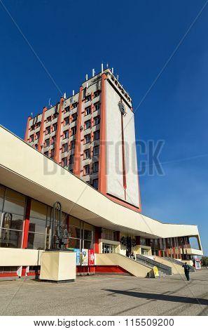 Modern buildings of railway station in the city Lipetsk. Russia
