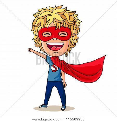 Super Kid. Vector Illustration.