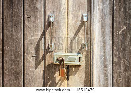 Pad Lock On Door
