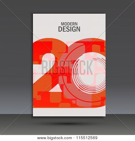 Vector design 20 years anniversary. Cover template