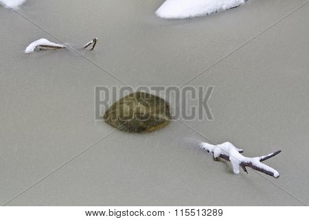 Branch And Ice Hole