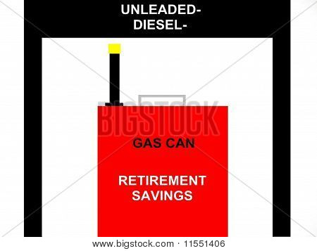 Retirement Savings Gas Can